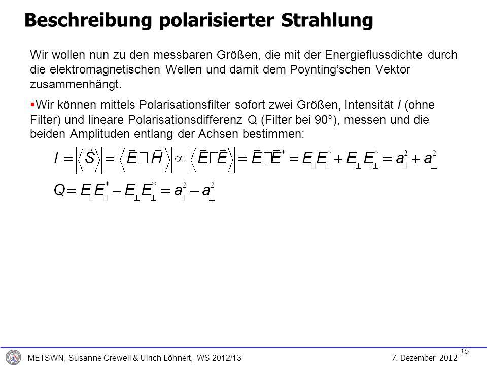 Beschreibung polarisierter Strahlung