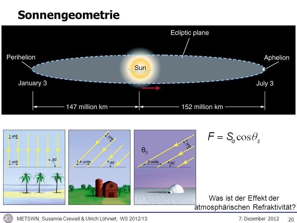 Was ist der Effekt der atmosphärischen Refraktivität