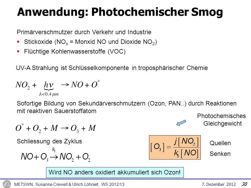 Anwendung: Photochemischer Smog
