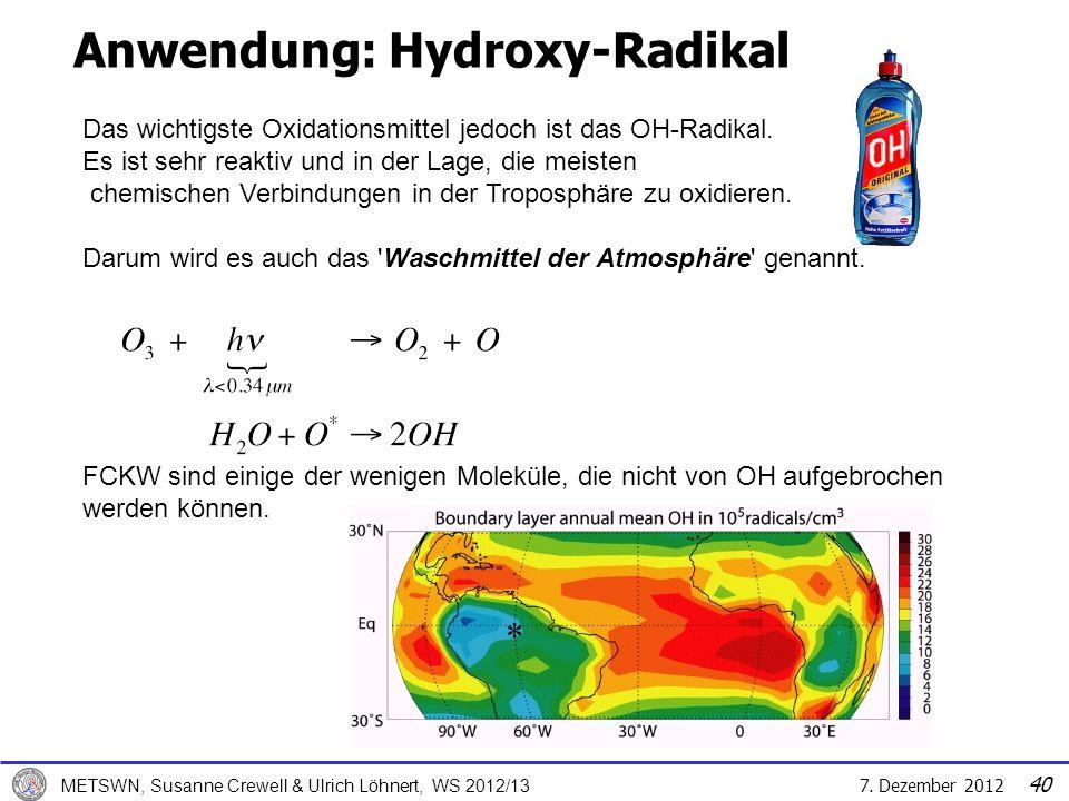 Anwendung: Hydroxy-Radikal