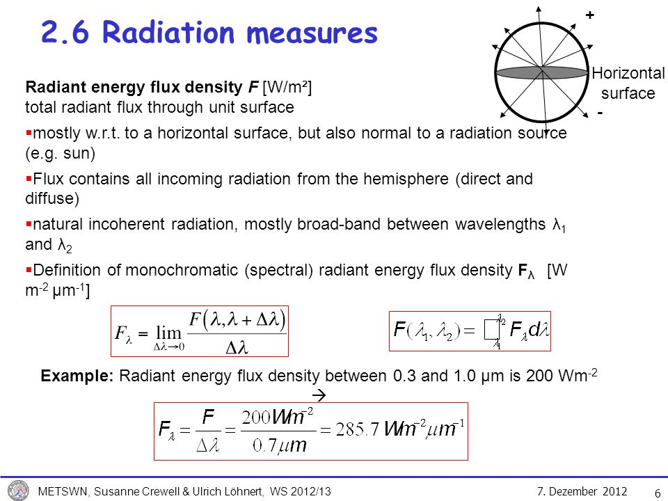 2.6 Radiation measures + Horizontal surface