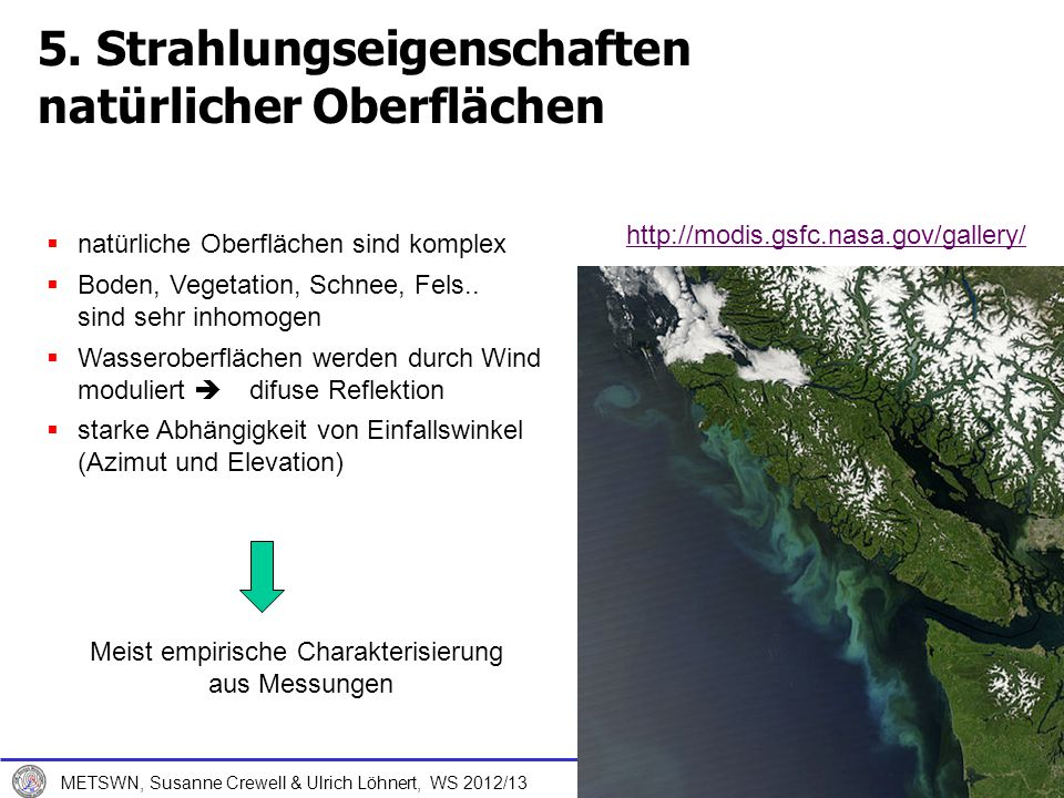 5. Strahlungseigenschaften natürlicher Oberflächen