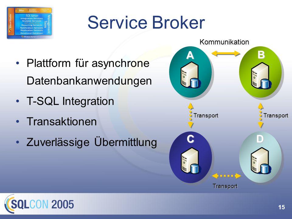 "Mehr zu Service Broker Vortrag ""SQL Server Service Broker Marcel Gnoth, Dienstag 20.9., 12:00h – 13:15h."