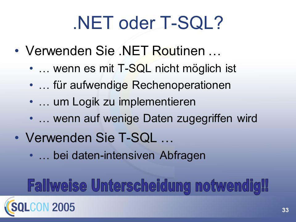 Mehr zu .NET Integration
