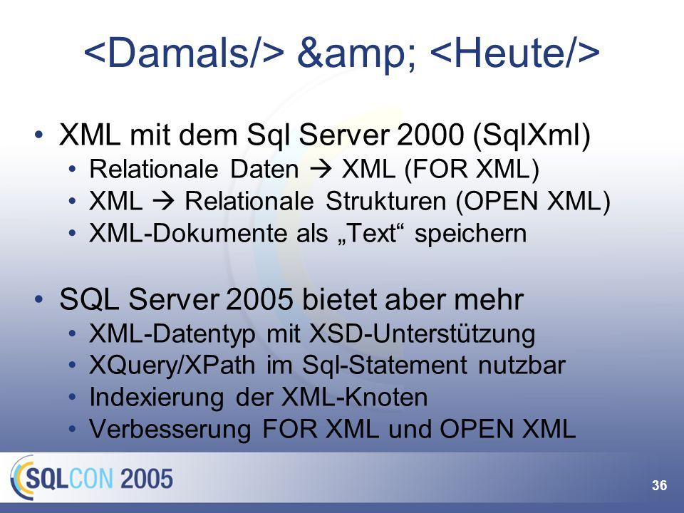 XML-Datentyp verwenden
