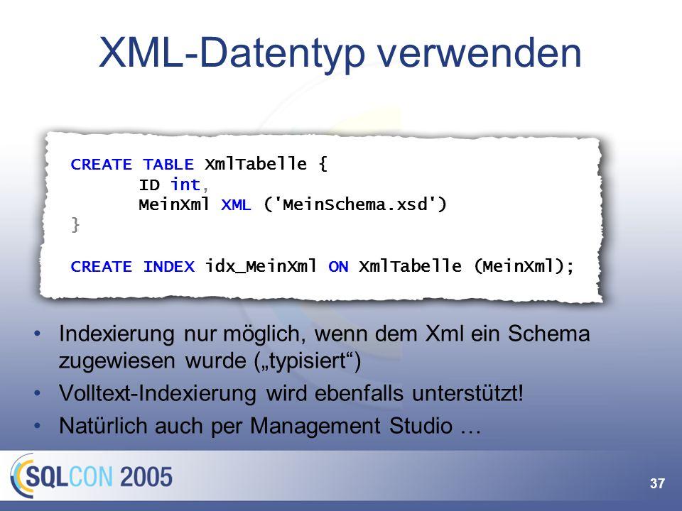Die große Liebe: SQL + XML