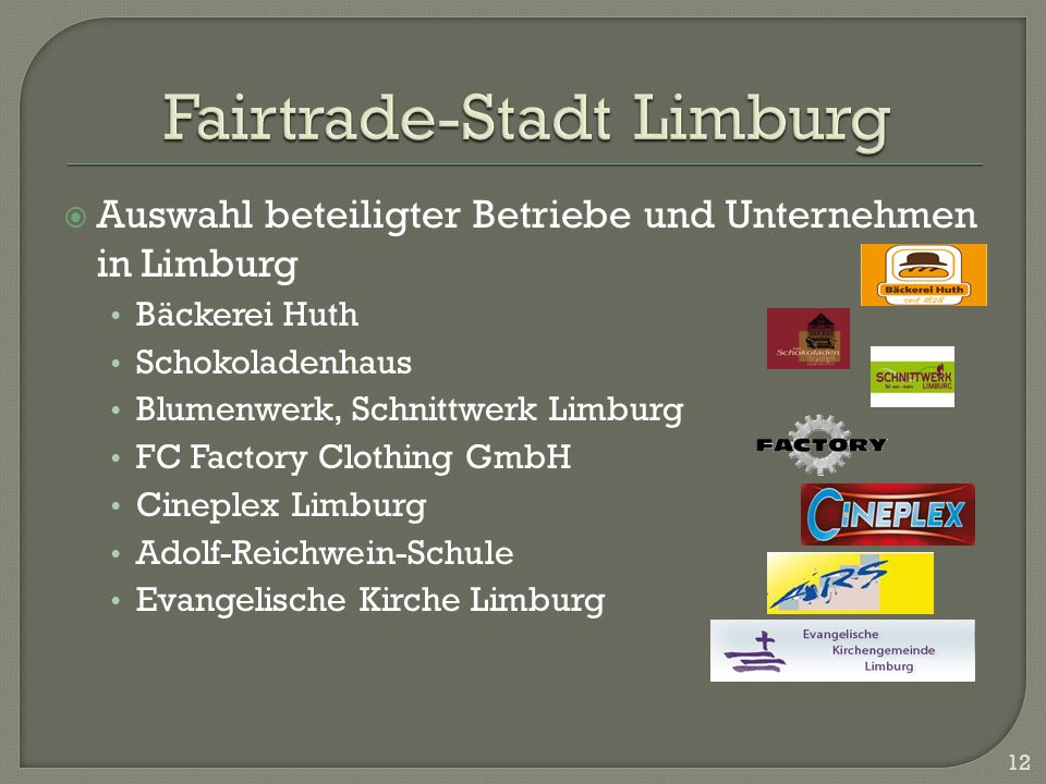 Fairtrade-Stadt Limburg
