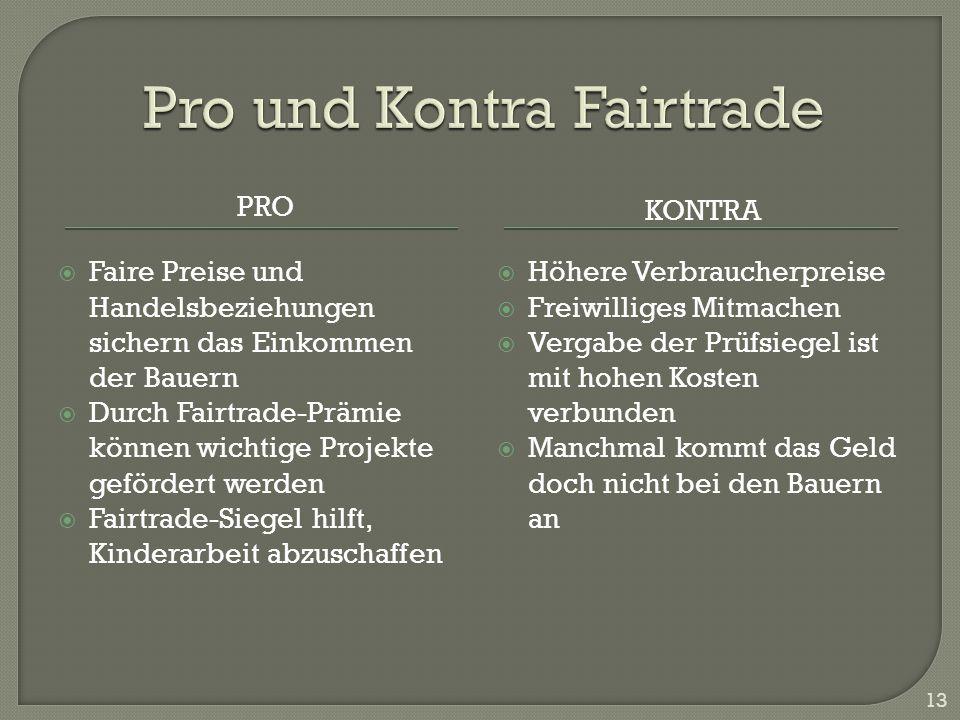 Pro und Kontra Fairtrade