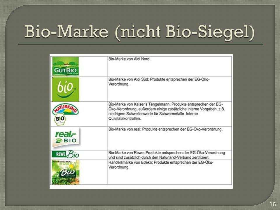 Bio-Marke (nicht Bio-Siegel)
