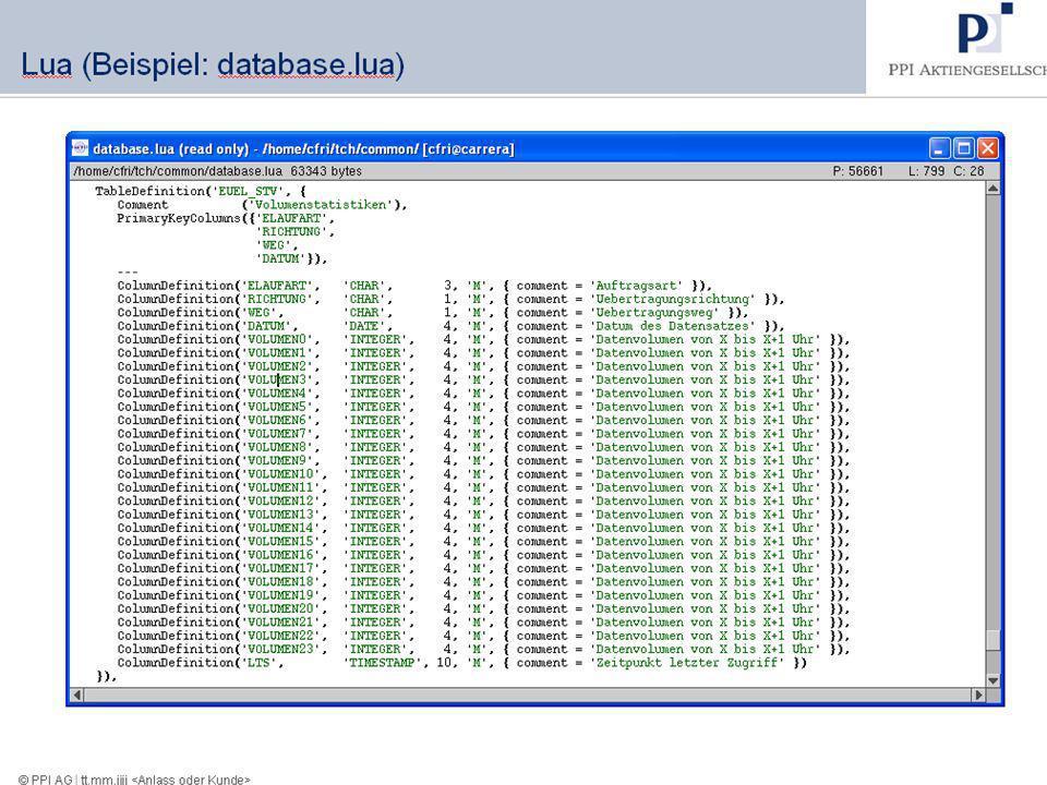 Lua (Beispiel: Einfaches SQL)