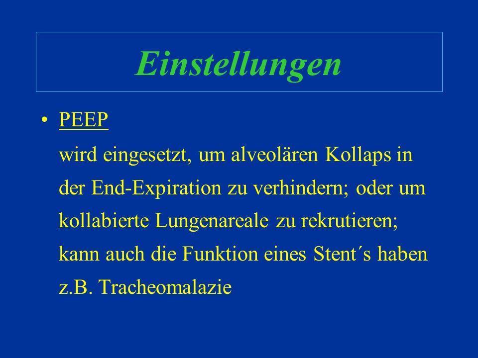 Einstellungen PEEP.