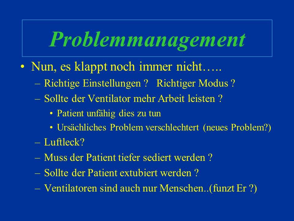 Problemmanagement Nun, es klappt noch immer nicht…..