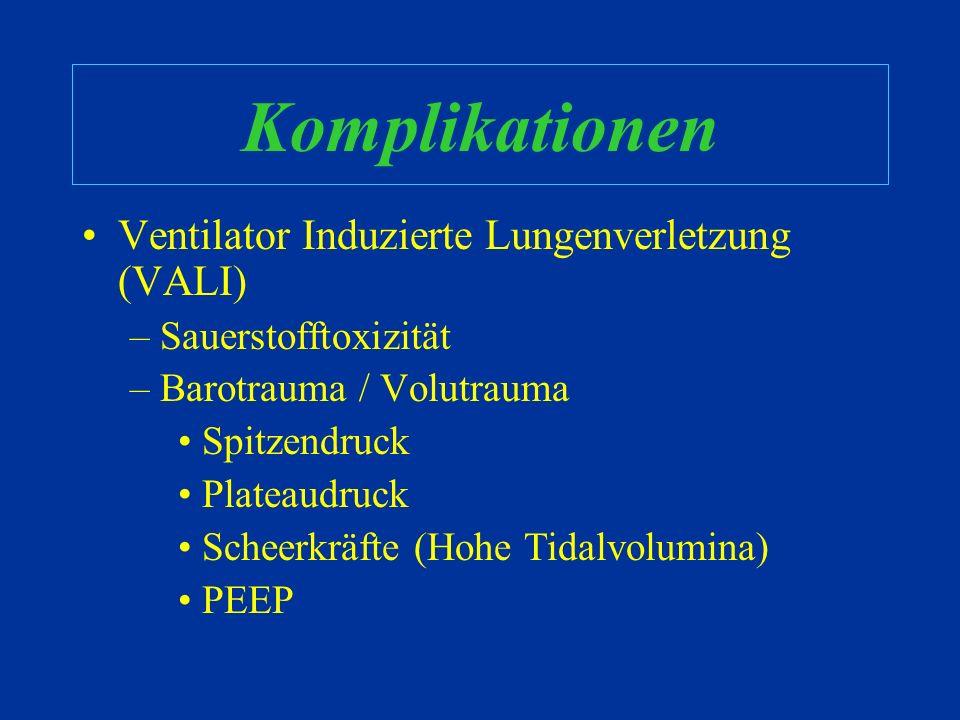 Komplikationen Ventilator Induzierte Lungenverletzung (VALI)