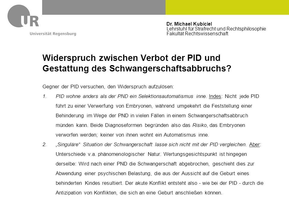 Dr. Michael Kubiciel Lehrstuhl für Strafrecht und Rechtsphilosophie Fakultät Rechtswissenschaft