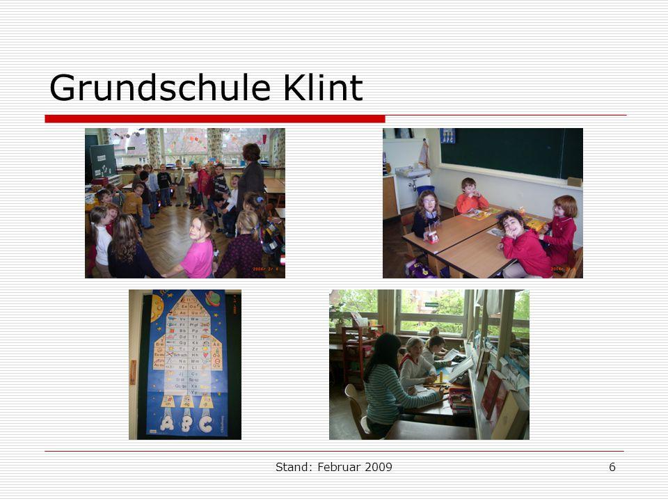 Grundschule Klint Stand: Februar 2009