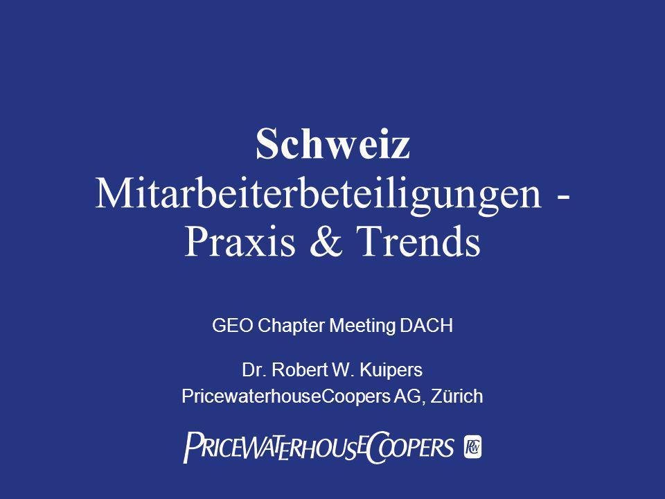 Schweiz Mitarbeiterbeteiligungen - Praxis & Trends