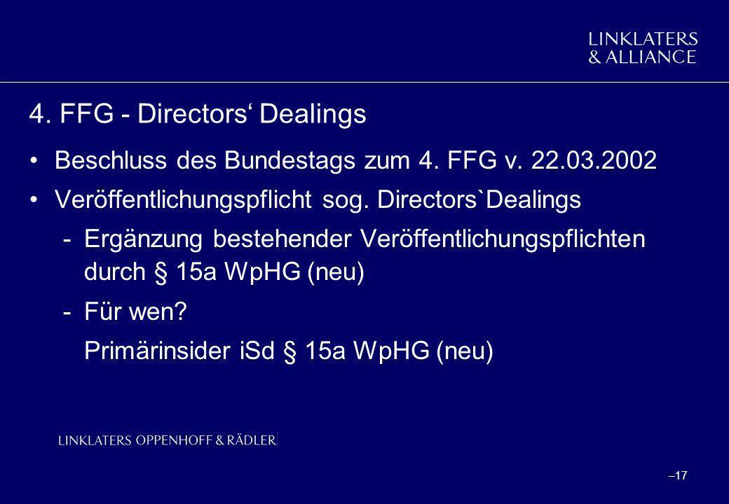 4. FFG - Directors' Dealings
