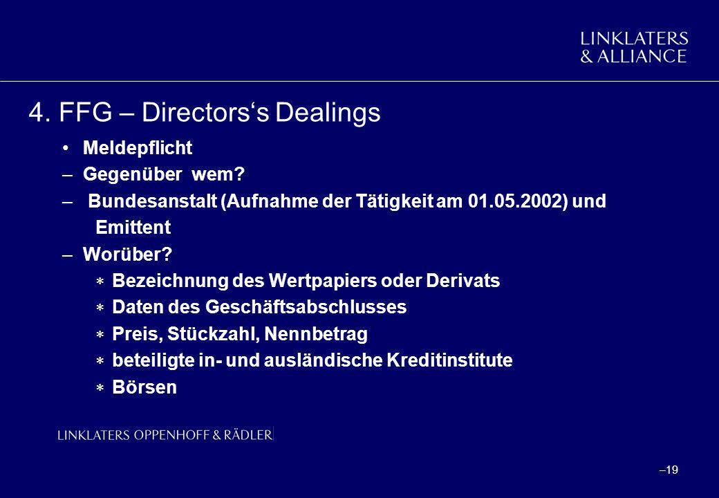 4. FFG – Directors's Dealings