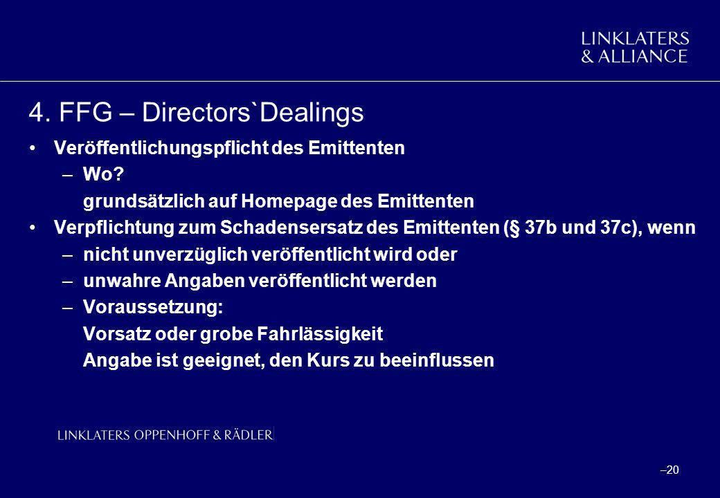 4. FFG – Directors`Dealings
