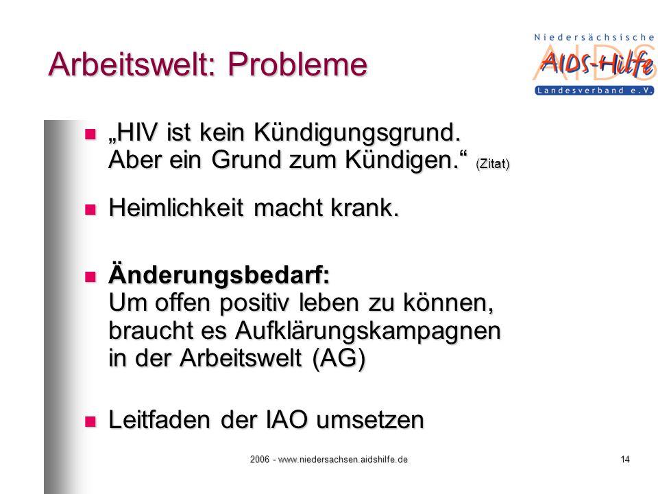 Arbeitswelt: Probleme