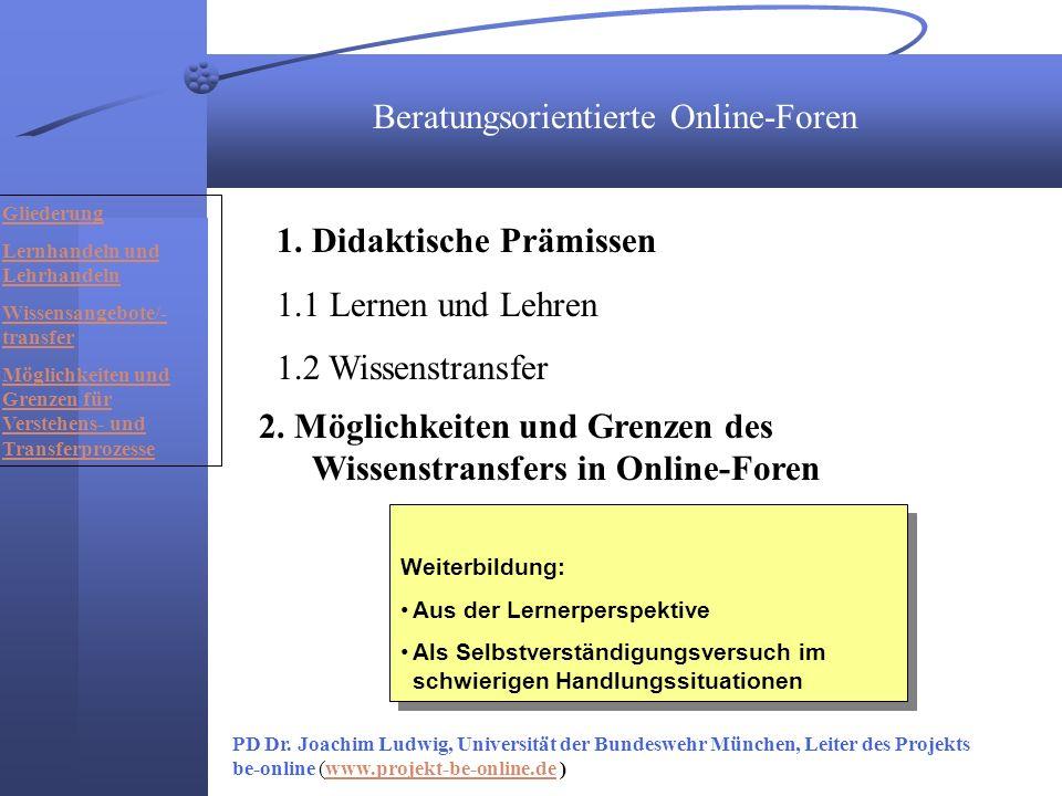 Beratungsorientierte Online-Foren