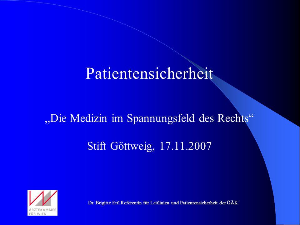 """""""Die Medizin im Spannungsfeld des Rechts"""