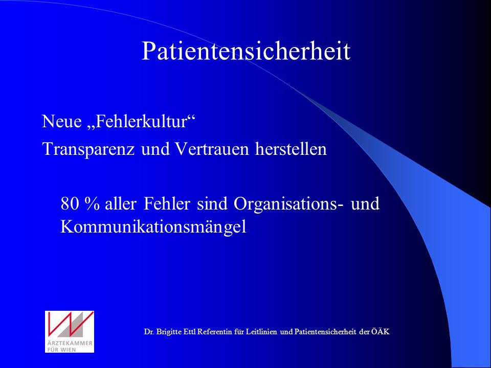 """Patientensicherheit Neue """"Fehlerkultur"""