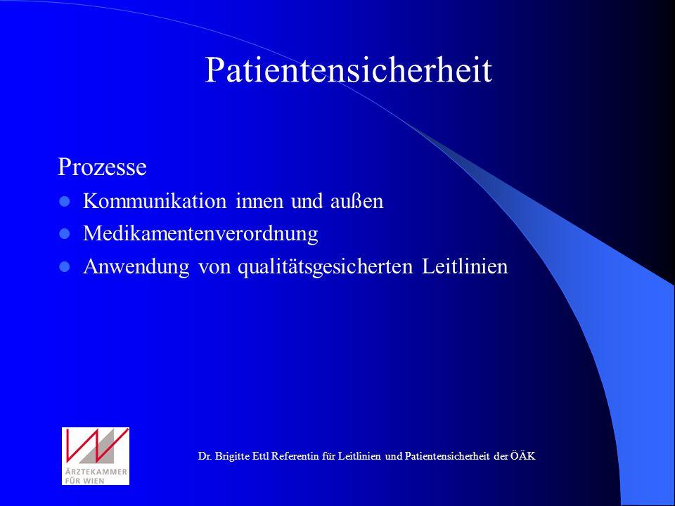 Patientensicherheit Prozesse Kommunikation innen und außen
