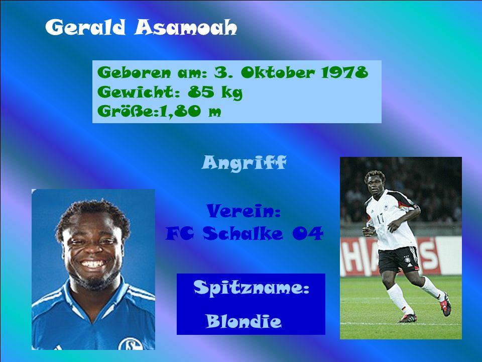 Gerald Asamoah Angriff Verein: FC Schalke 04 Blondie