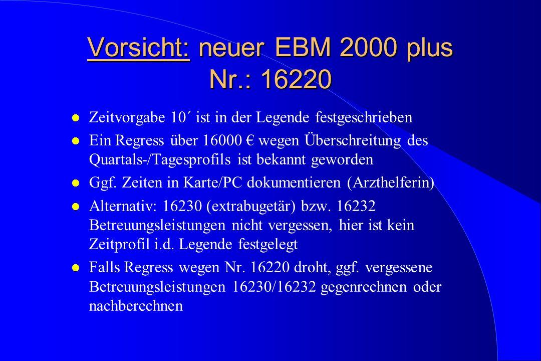 Vorsicht: neuer EBM 2000 plus Nr.: 16220