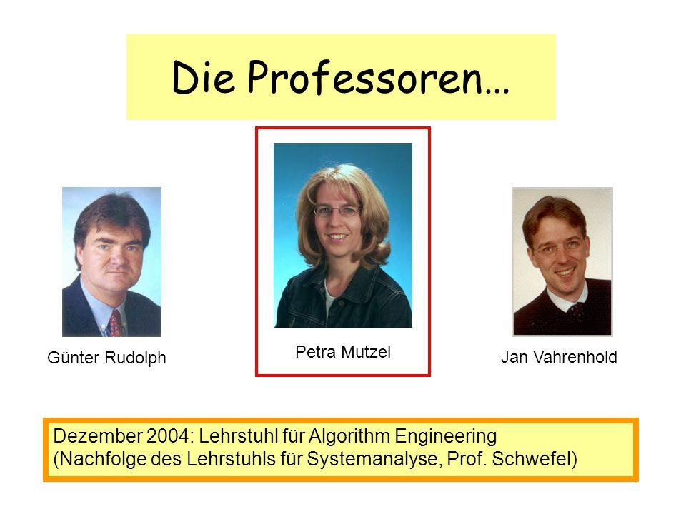 Die Professoren… Dezember 2004: Lehrstuhl für Algorithm Engineering