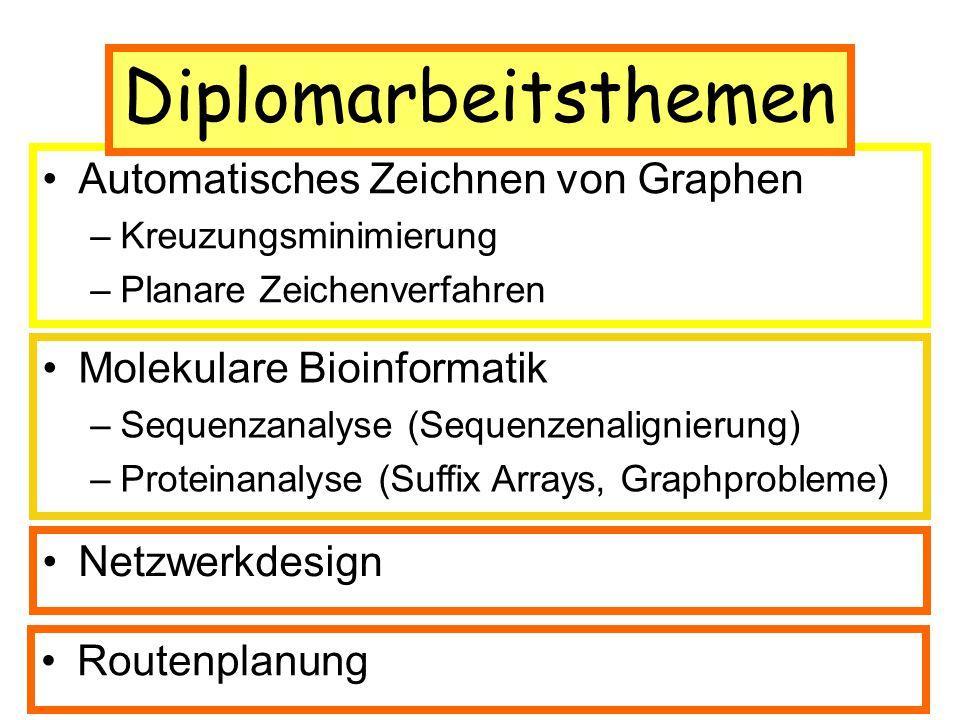 Diplomarbeitsthemen Anwendungsbereiche
