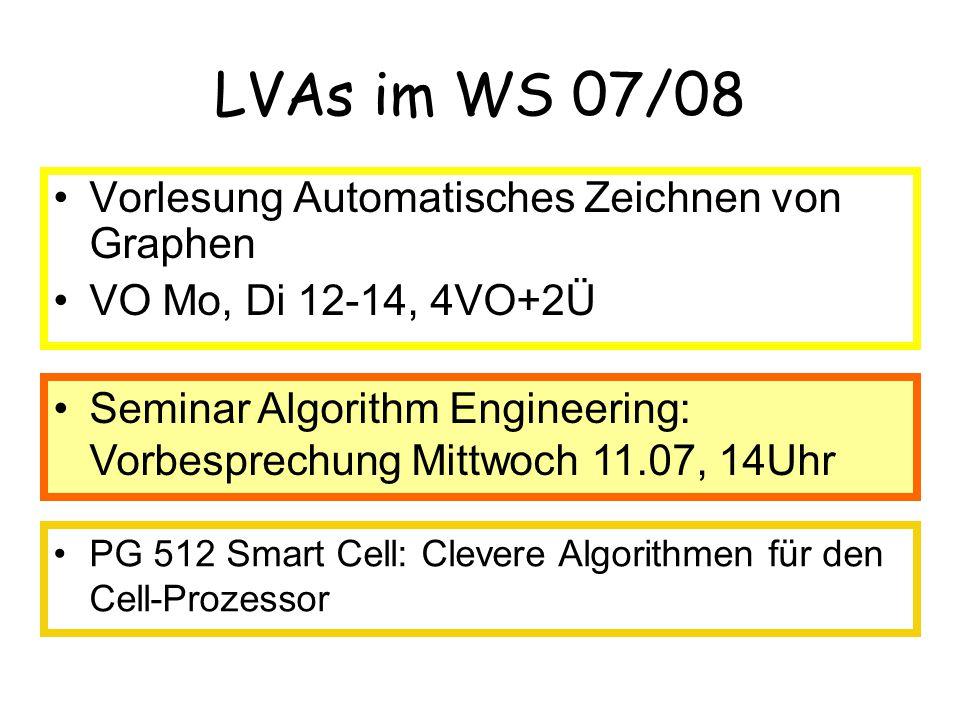 LVAs im WS 07/08 Vorlesung Automatisches Zeichnen von Graphen