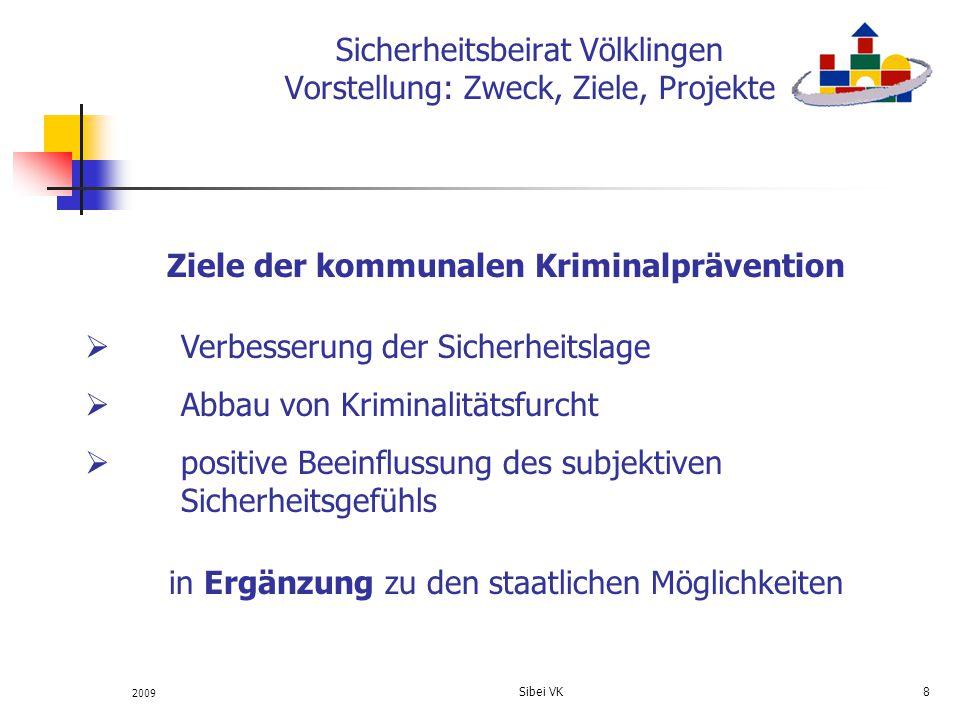 Sicherheitsbeirat Völklingen Vorstellung: Zweck, Ziele, Projekte