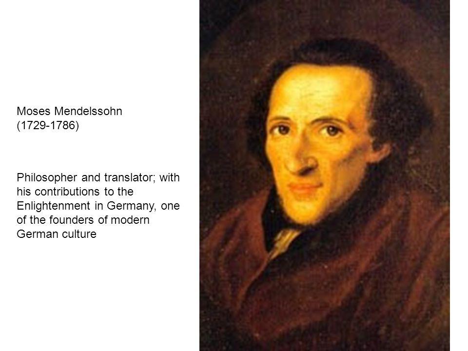 Moses Mendelssohn (1729-1786)