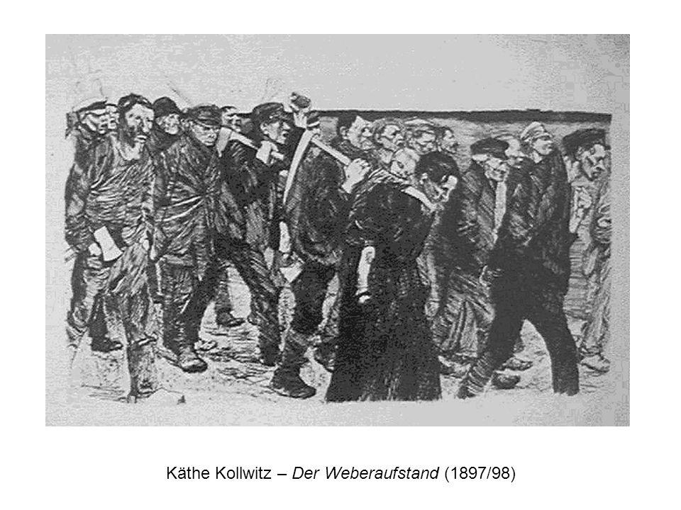 Käthe Kollwitz – Der Weberaufstand (1897/98)
