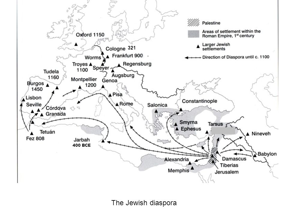 321 . 400 BCE The Jewish diaspora