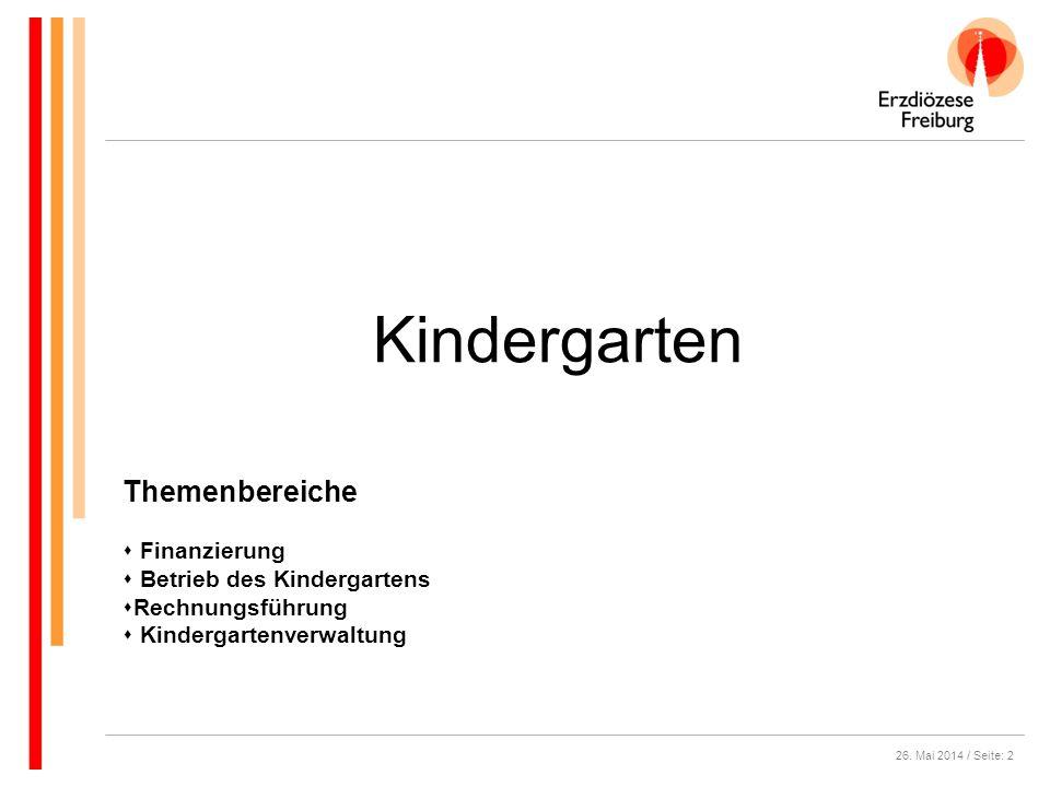 Kindergarten Themenbereiche Finanzierung Betrieb des Kindergartens