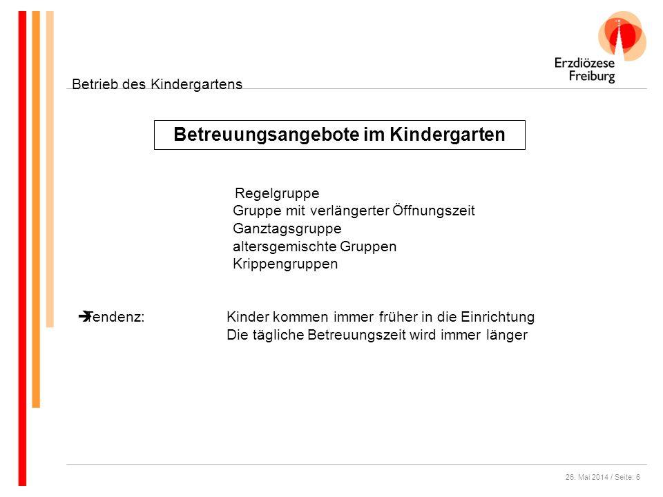 Betreuungsangebote im Kindergarten