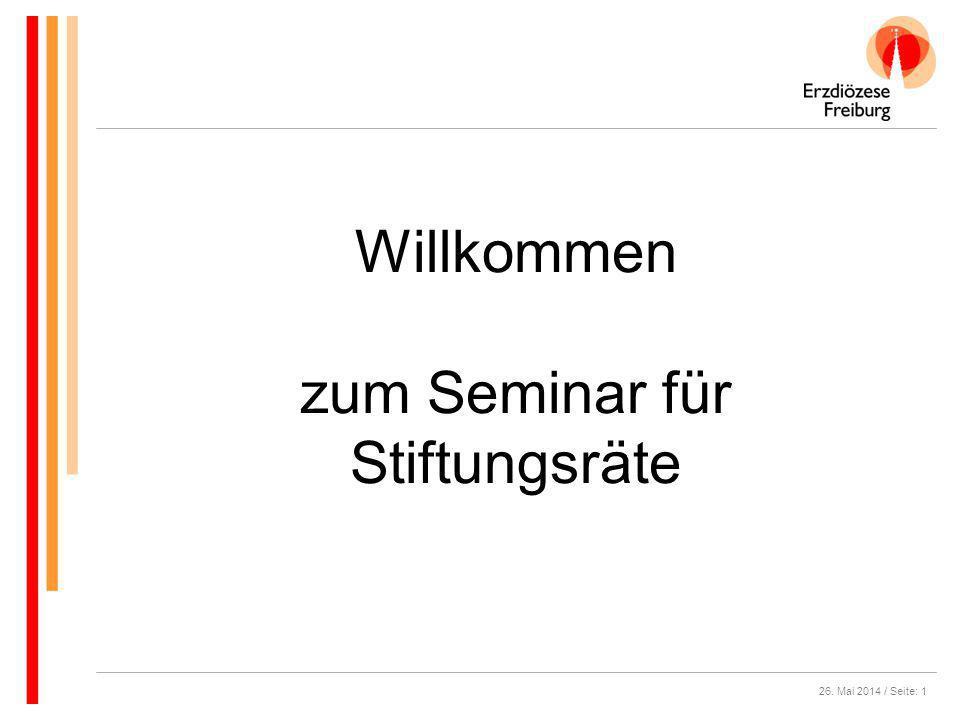 zum Seminar für Stiftungsräte
