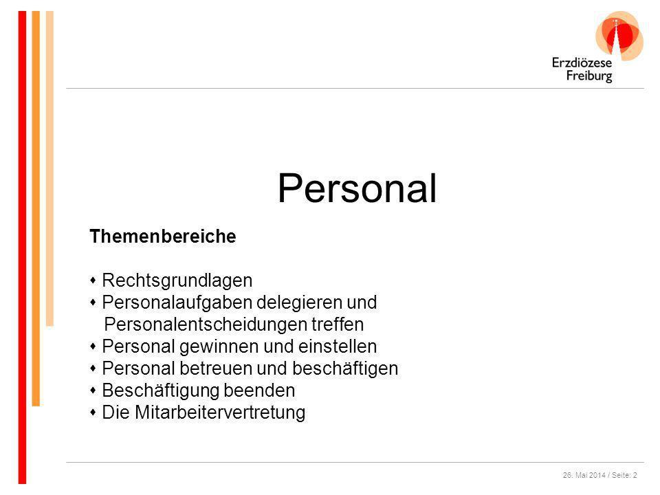 Personal Themenbereiche Rechtsgrundlagen