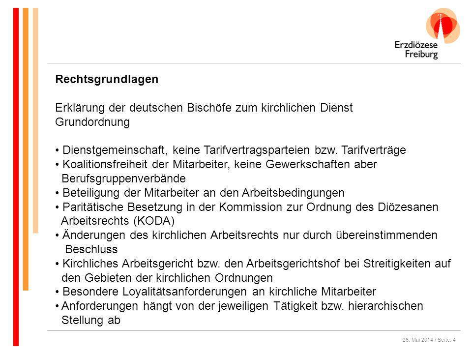 Erklärung der deutschen Bischöfe zum kirchlichen Dienst Grundordnung