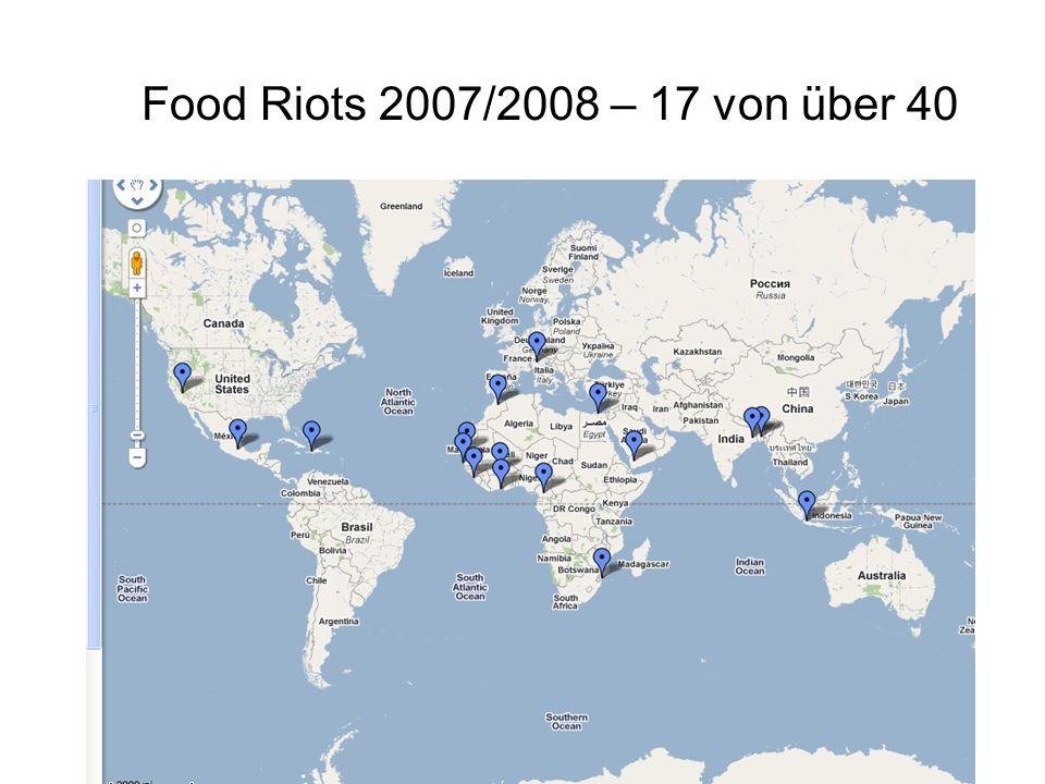 Food Riots 2007/2008 – 17 von über 40