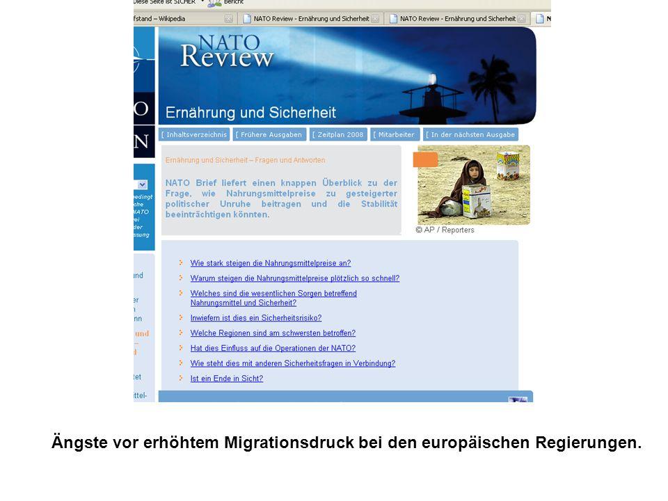 Ängste vor erhöhtem Migrationsdruck bei den europäischen Regierungen.
