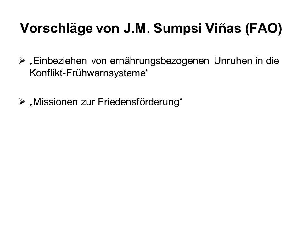 Vorschläge von J.M. Sumpsi Viñas (FAO)