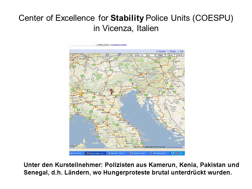 Center of Excellence for Stability Police Units (COESPU) in Vicenza, Italien