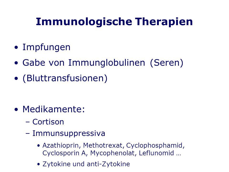 Immunologische Therapien