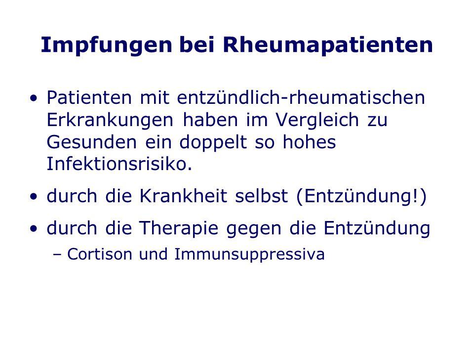 Impfungen bei Rheumapatienten