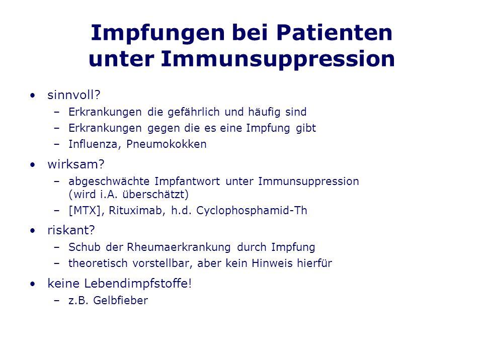 Impfungen bei Patienten unter Immunsuppression