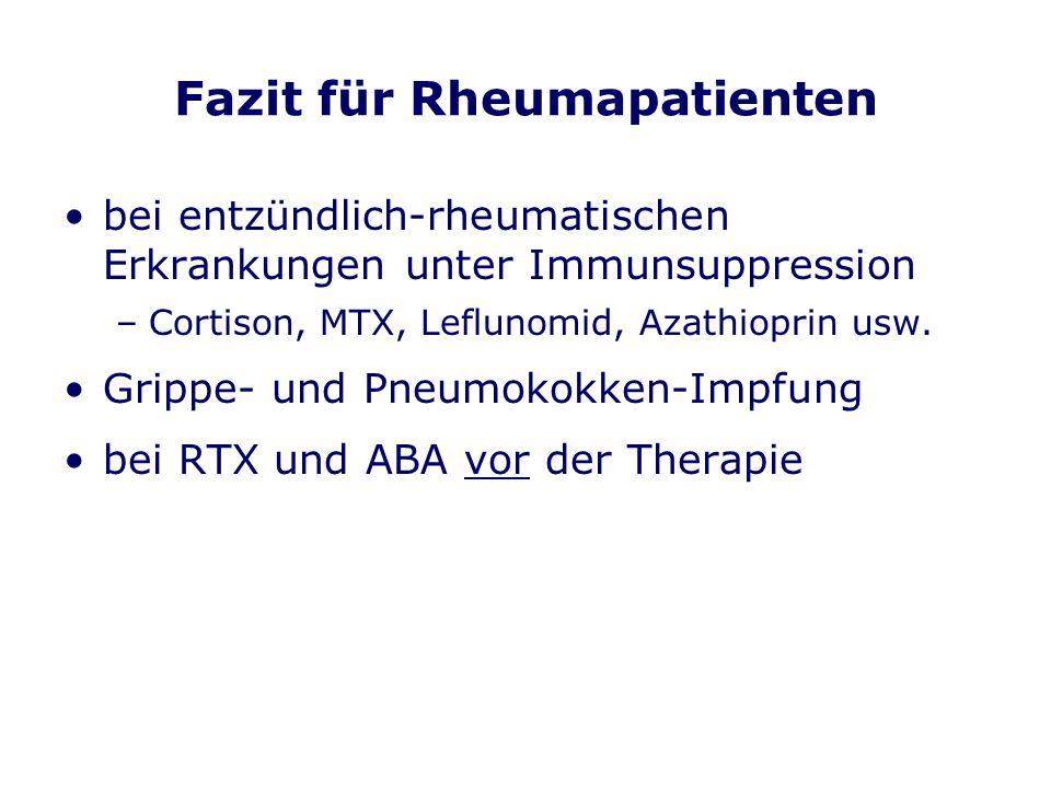 Fazit für Rheumapatienten